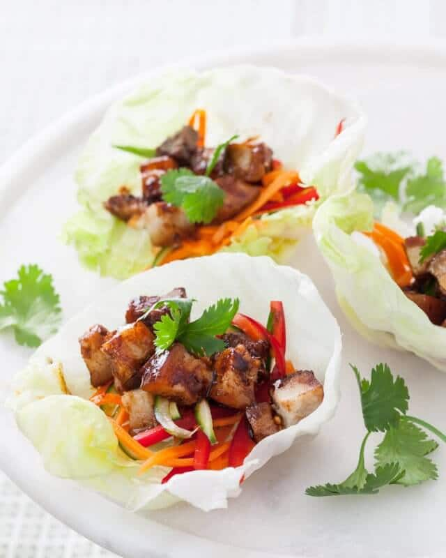 Pork Belly Lettuce Cups Recipe