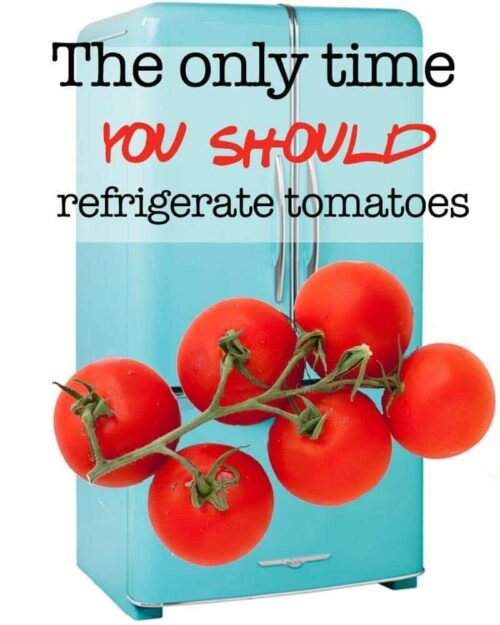 The only time you should refrigerate tomatoes!