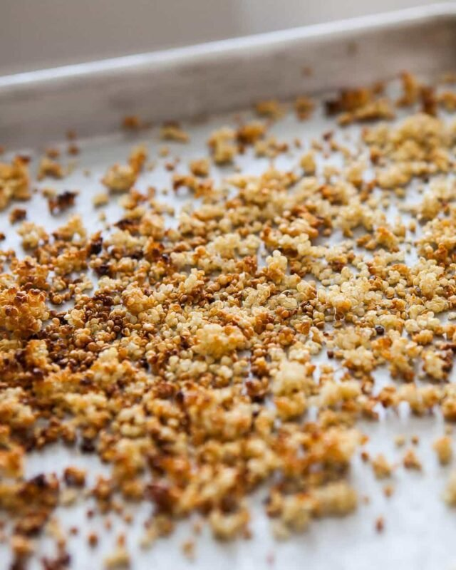 How to make crispy quinoa without oil