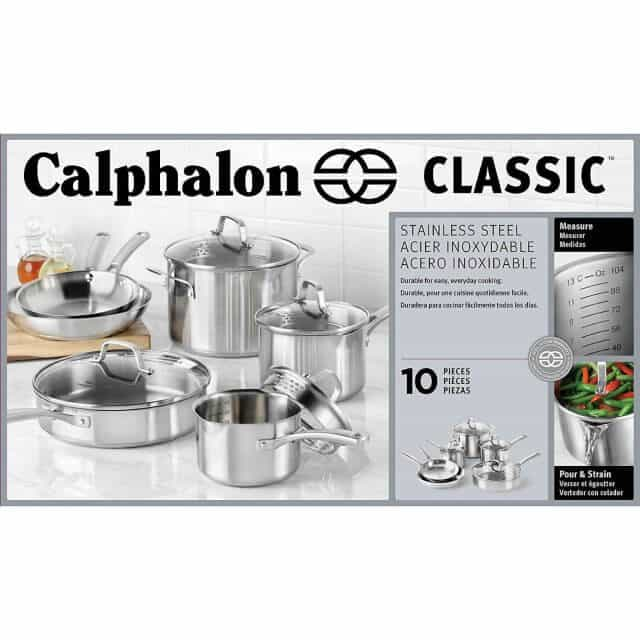 Calphalon stainless steel cookware set giveaway for Kitchen set classic