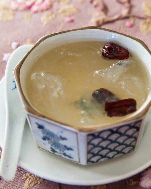 bird's nest soup in bowl