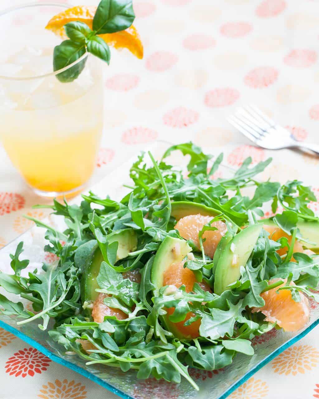 Grapefruit, Avocado & Baby Arugula Salad
