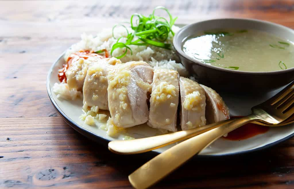 Hainanese Chicken Rice Recipe - a family recipe | Steamy Kitchen