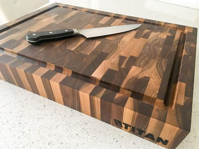 Titan Butcher Blocks Review - end grain