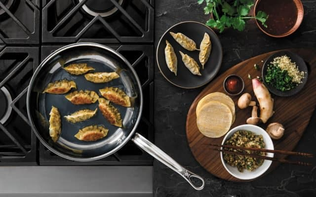 Hestan NanoBond Cookware Review - potstickers