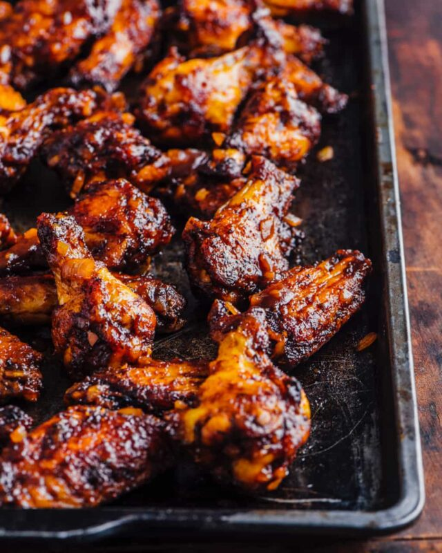Oven Barbecued Chicken Wings Recipe