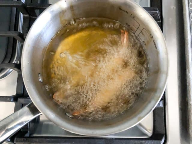 shrimp in fryer