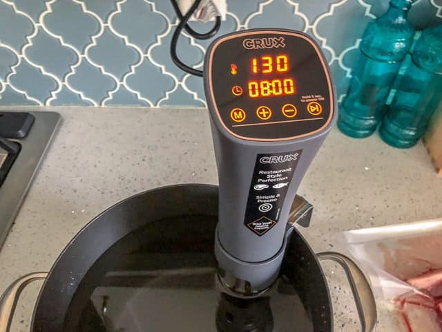 Crux Sous Vide Review temperature