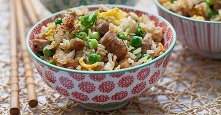 chicken and rice in bowl