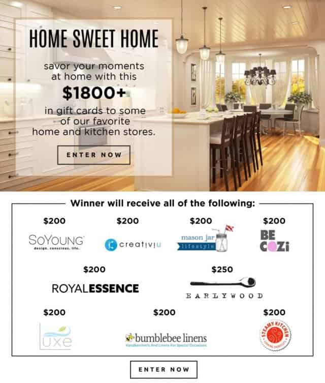 Etonnant $1800+ Home U0026 Kitchen Giveaway