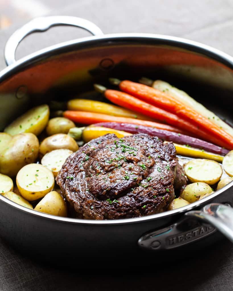 Ribeye Cap Steak – one pan dinner for two