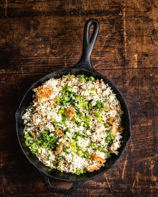Bobby Flay's Crispy Coconut Scallion Rice Recipe