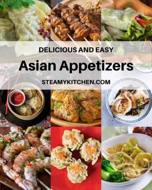 Collage of Asian appetizer recipes