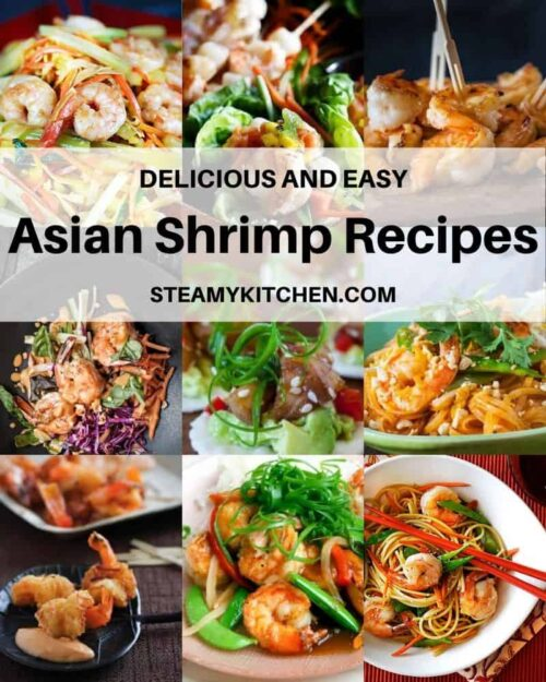 Collage of different Asian Shrimp recipes