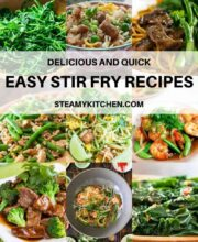 Collage of stir fry recipes