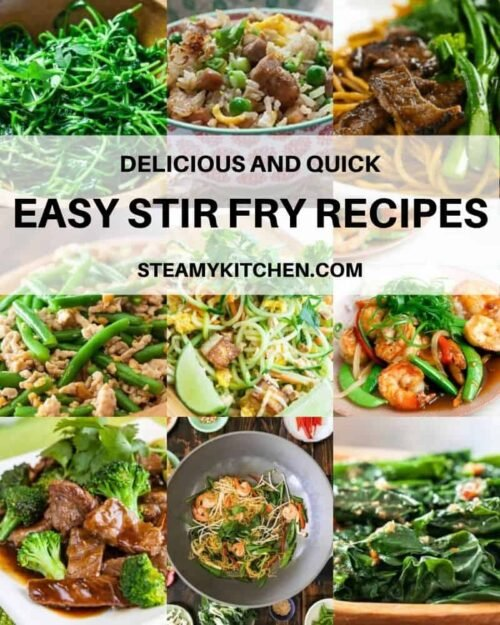 Collage of easy stir fry recipes