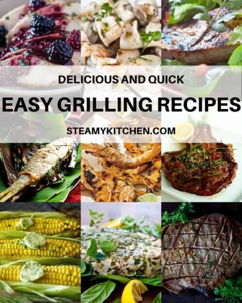 Collage of easy grilling recipes