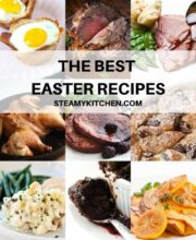 Collage of Easter recipes
