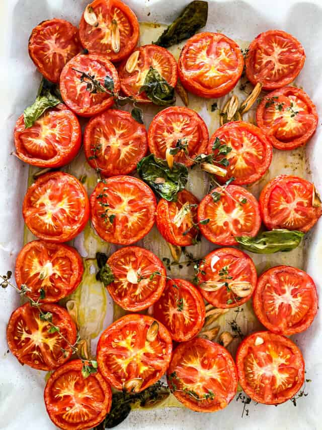 roasted tomatoes with garlic and fresh herbs recipe