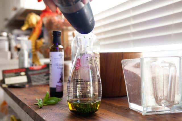 salt and freshly ground pepper to make fresh salad dressing using the bonjour salad dressing maker