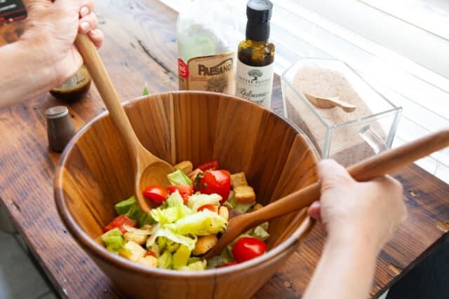 anolon teak salad serving set review