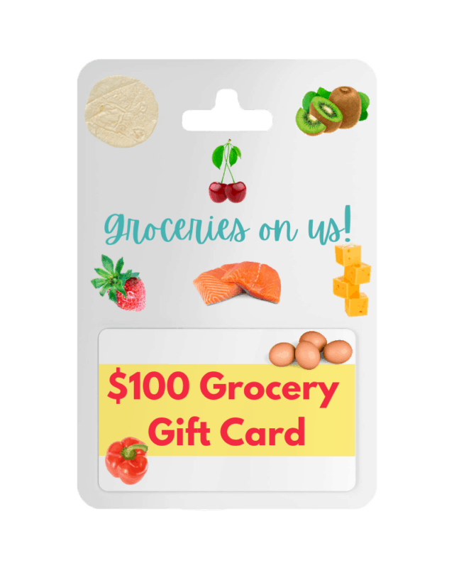 $100 Grocery Gift Card Giveaway