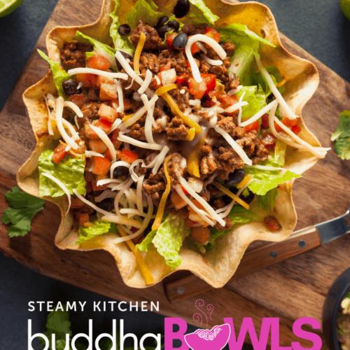 buddha bowl with taco shell bowl