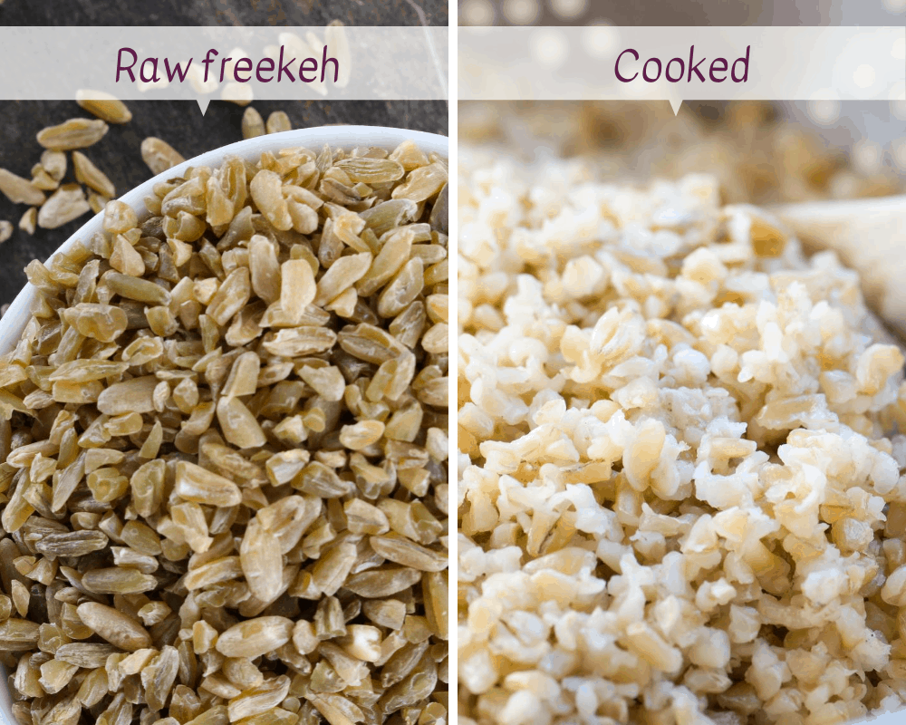 cracked freekeh raw vs cooked