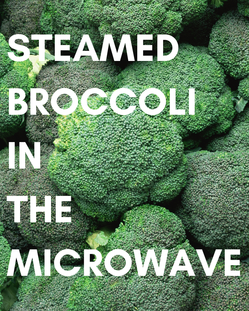 Steamed Broccoli in the Microwave