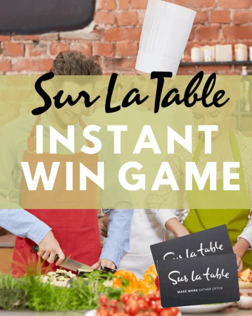 Sur La Table Instant Win Game