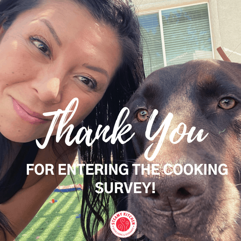 Thank You For Entering The Cooking Survey!