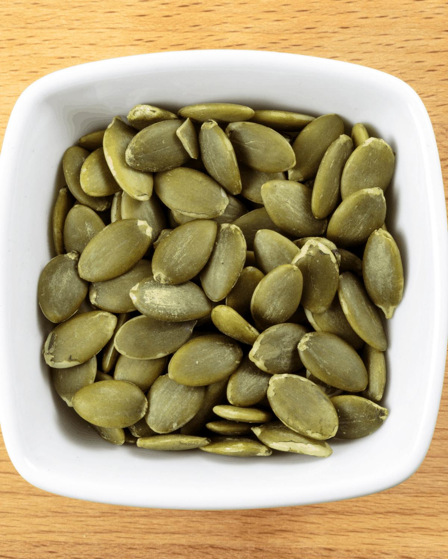 bowl of toasted pepitas