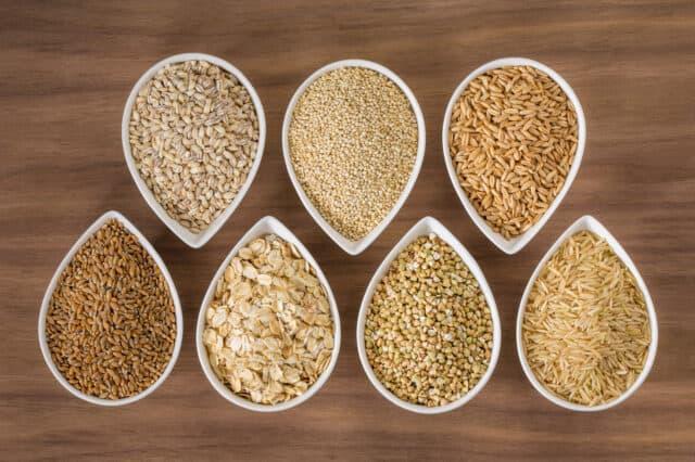 an assortment of ancient grains - whole grains