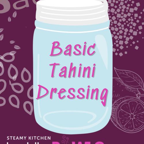 tahini dressing recipe card
