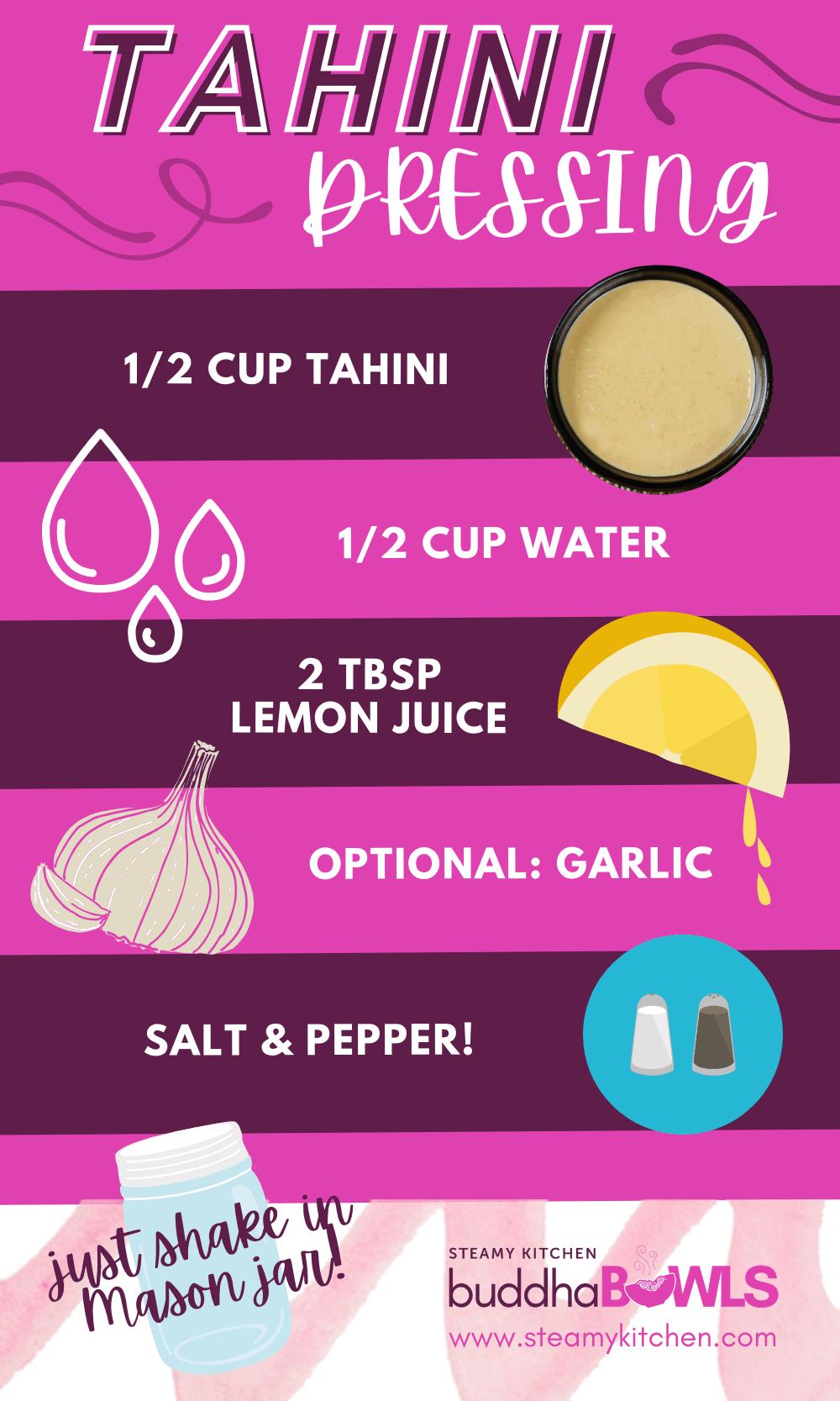 tahini dressing formula