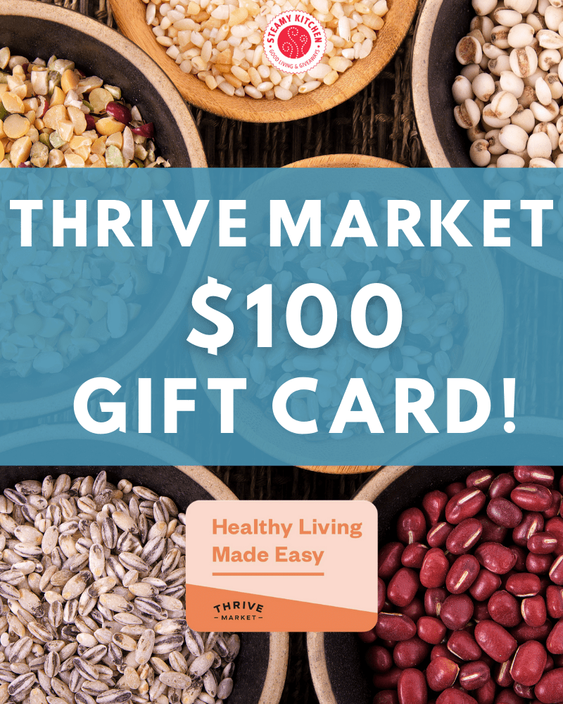 $100 Thrive Market Gift Card GiveawayEnds in 3 days.