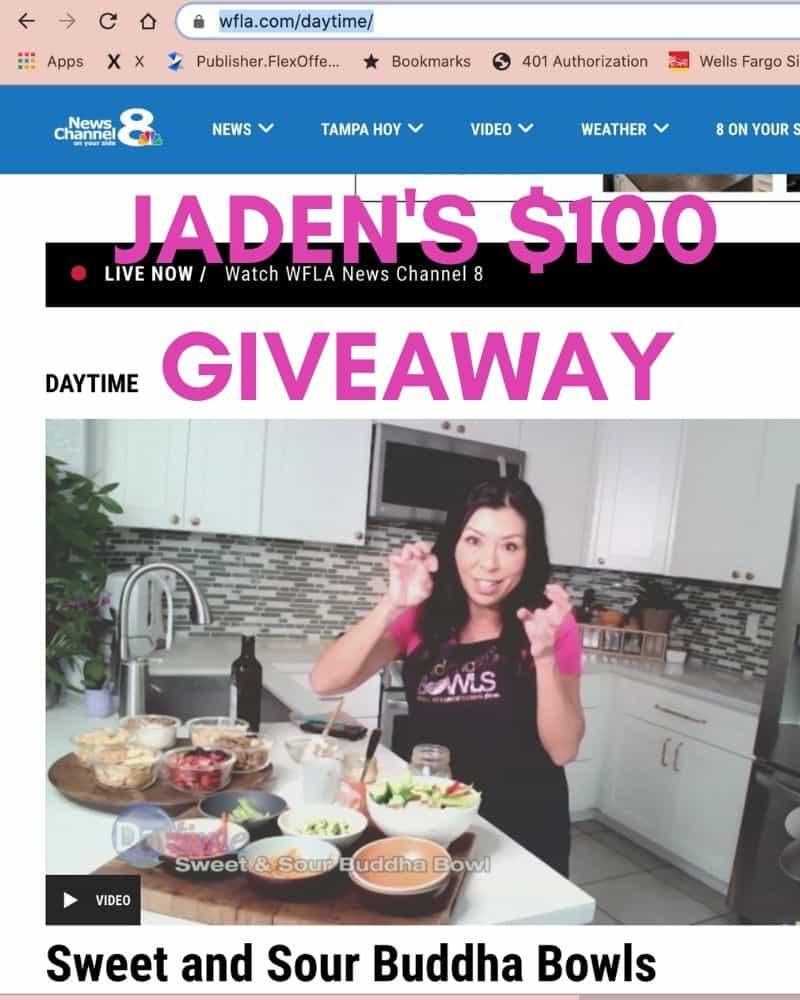 Jaden's Special $100 Giveaway