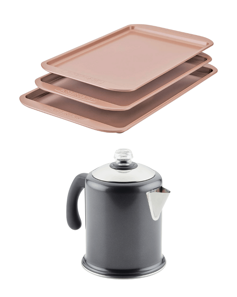 Farberware Limited Edition Baking Sheets + Percolator GiveawayEnds in 23 days.