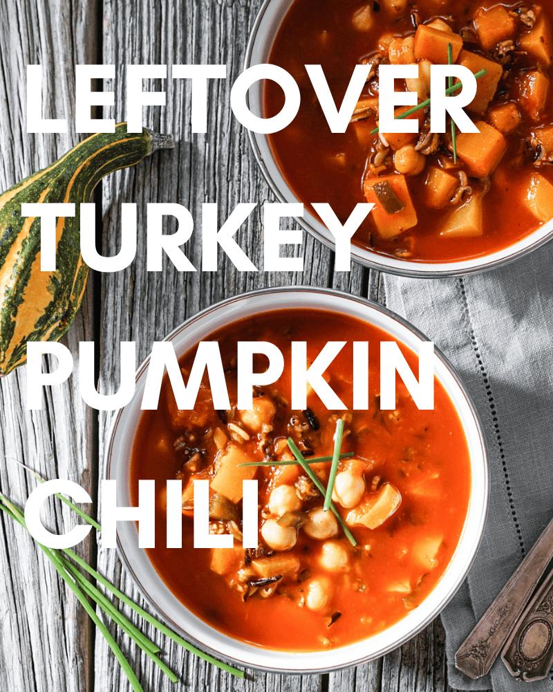 Leftover Turkey in Pumpkin Chili