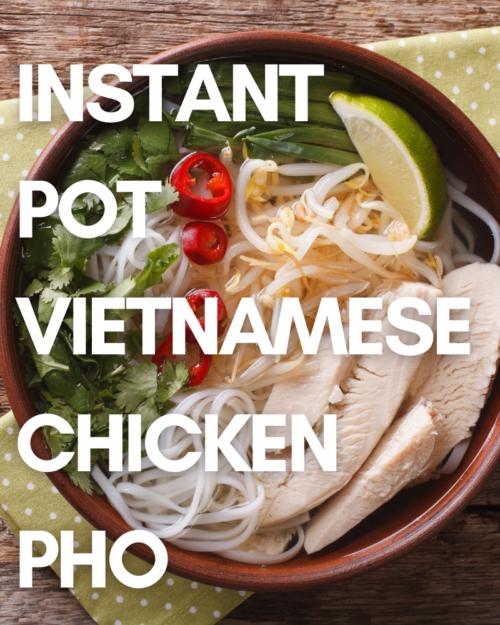 Chicken Pho in Bowl.