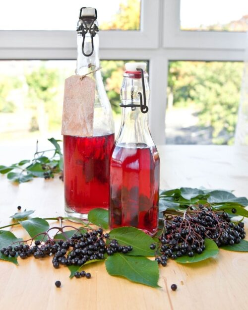 Make Simple Syrup with Extra Berries
