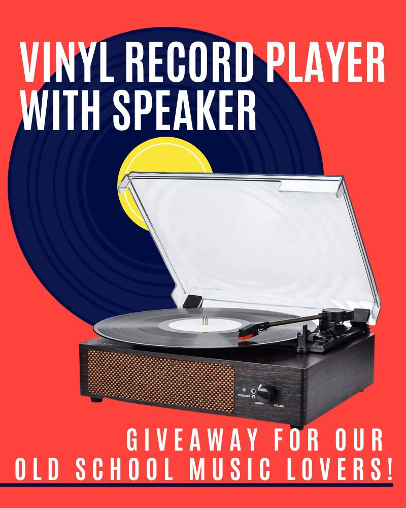 Vinyl Record Player Speaker GiveawayEnds in 15 days.