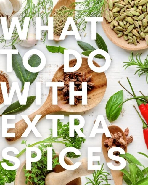 What to do with extra spices (1)