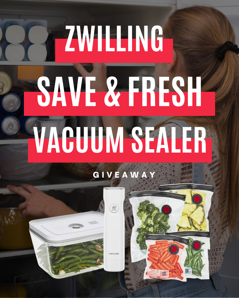 ZWILLING Fresh & Save Vacuum Sealer GiveawayEnds in 36 days.