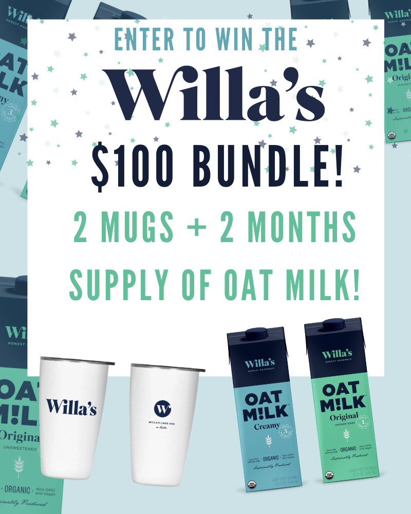 Willas Organic Oat Milk Review and GiveawayEnds in 11 days.