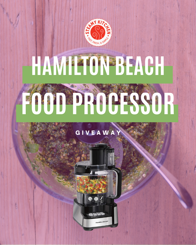 Hamilton Beach Food Processor GiveawayEnds Today!