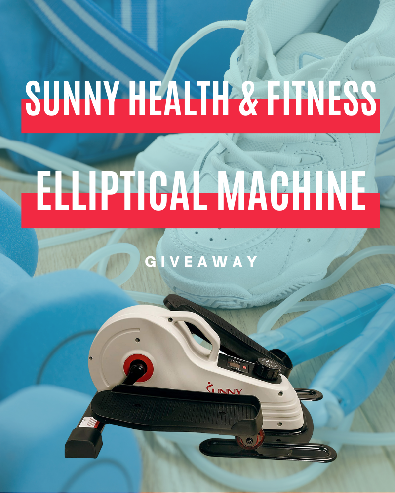 Sunny Health & Fitness Portable Elliptical Machine GiveawayEnds in 7 days.