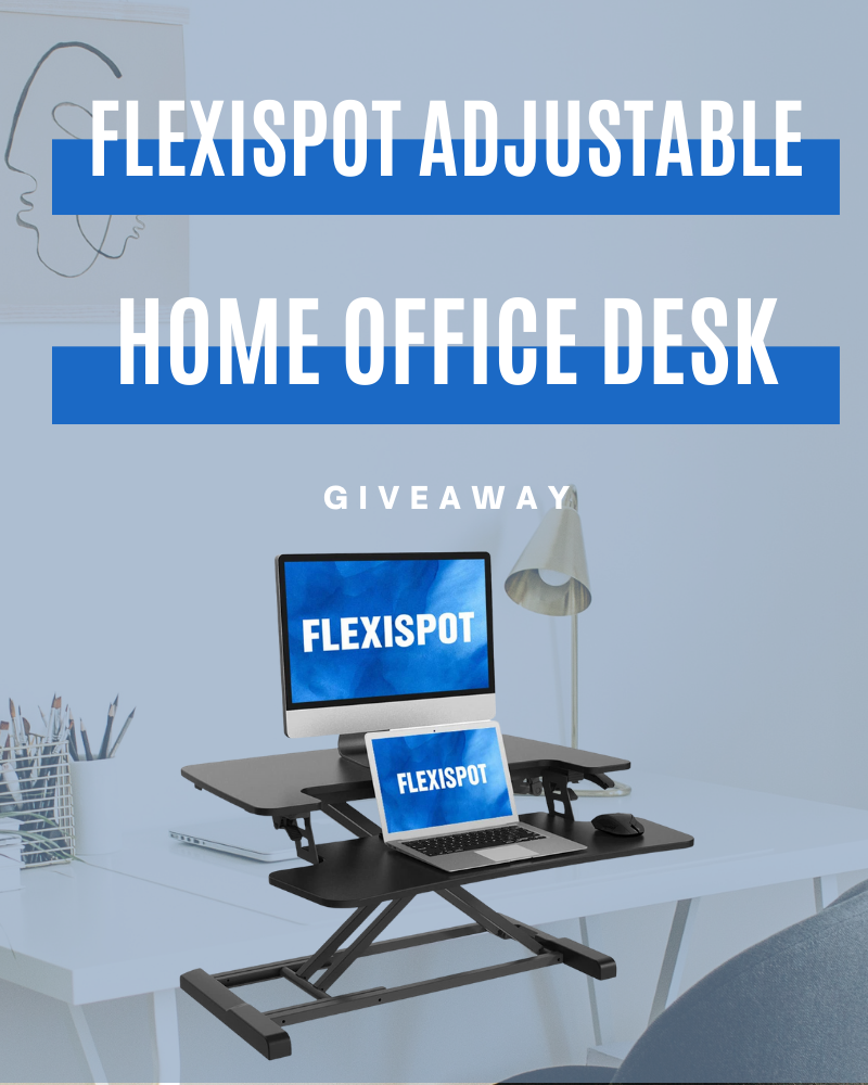 FlexiSpot Adjustable Home Office Desk GiveawayEnds in 5 days.