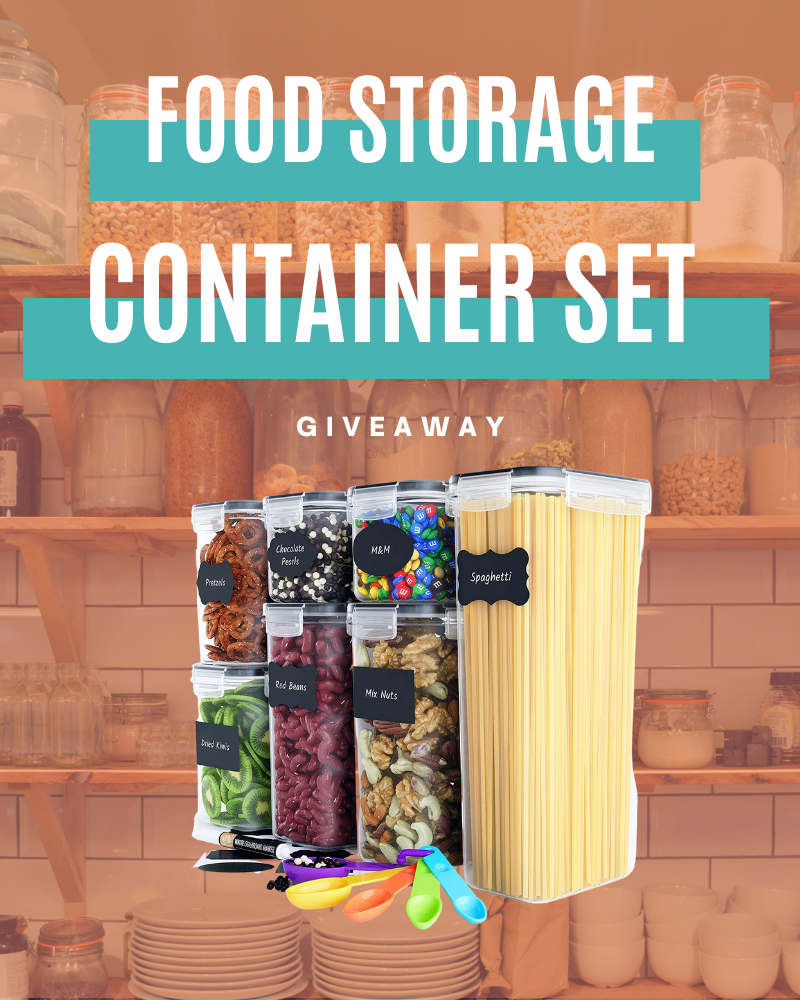 Airtight Food Storage Container Set GiveawayEnds in 49 days.