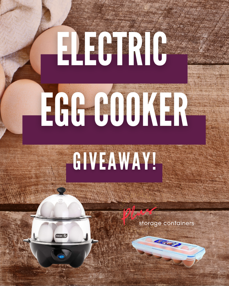 DASH Deluxe Electric Egg Cooker GiveawayEnds in 6 days.